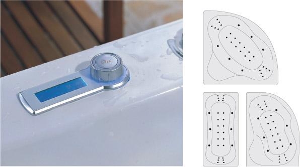 Niagara Wellness Comfort Lux (6+12+12 levegő) hidromasszázs + pezsgőfürdő