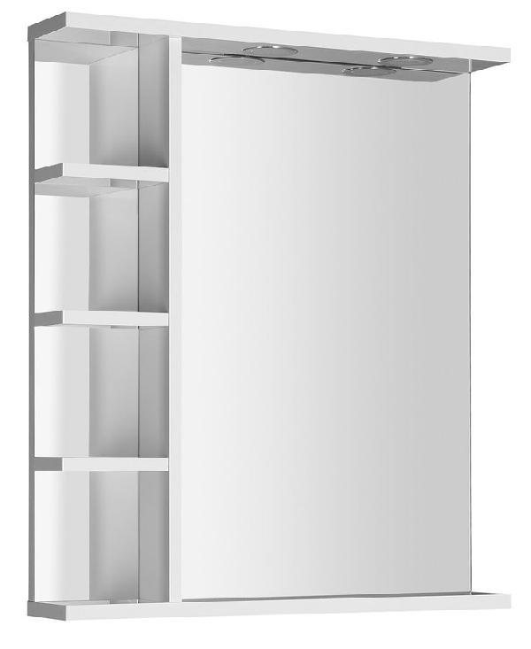 AQUALINE KORIN LED tükör világítással és polccal, 60x70x12cm (KO370)