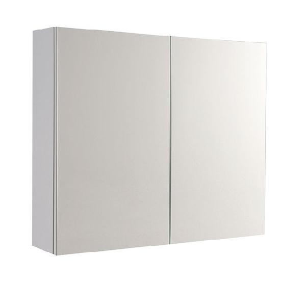 Aqualine VEGA tükrös szekrény , 80x70x18, fehér (VG080)