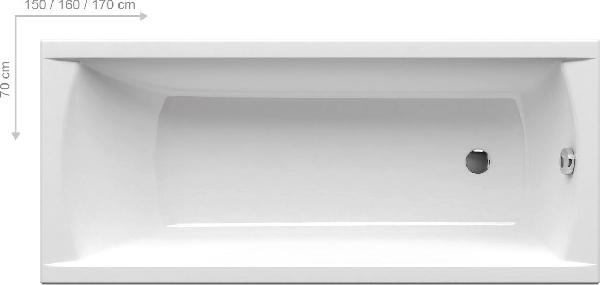 Ravak Classic 150x70 szögletes akrilkád