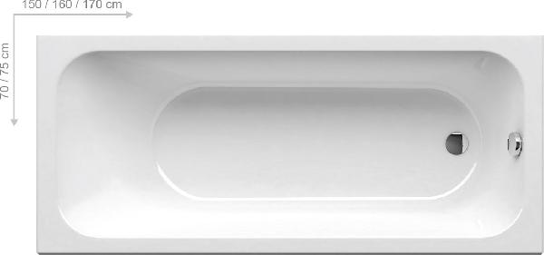 Ravak Chrome 150*70 snowwhite akrilkád