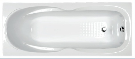H2O Molly 160x70 egyenes kád