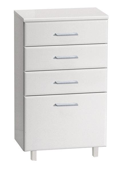 Aqualine ZOJA/KERAMIA FRESH álló szekrény, fiókokkal, fehér, 50x78x29cm (50308)