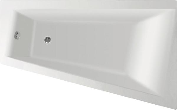 Aqualine METUJE akril kád 160x100x47 cm, jobb, láb nélkül (G2611)