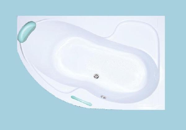 H2O Fortuna 160x100 jobbos asszimetrikus kád
