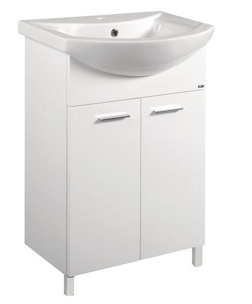 Aqualine Zoja mosdótartó szekrény 50,5x74x30 cm (51055) + Zero mosdó 55x43,5 cm (6055)
